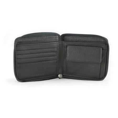 Leather Men's Coin Wallet Zippered (1537)