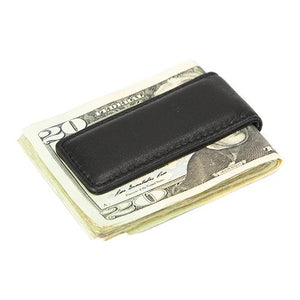 Leather Men's Money Clip Long Magnetic (1557)