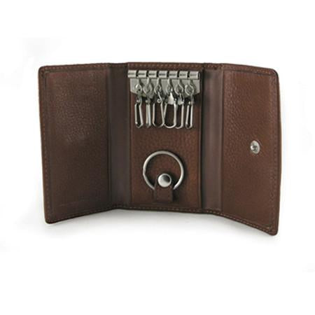 Leather Key Case 6 Hook with Valet (1591)