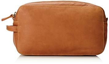aaf872b8e9e2 Leather Toiletry Bag Zippered Double Compartment (PB-1698)