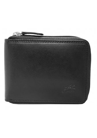 Men's RFID Secure Zippered Wallet with Removable Passcase (18-159)