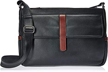 Leather Handbag East/West Inset Top Zip CD-1910 (Available in another colour)