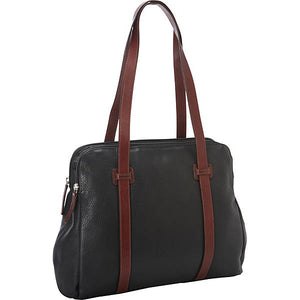 Leather Ladies' Handbag Twin Top Zip (CD-1914)