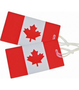 Austin House Luggage Tags (2) | Canada Flag