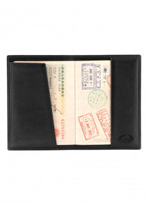 Leather Travel Wallet with Passport Pocket RFID (2010107)