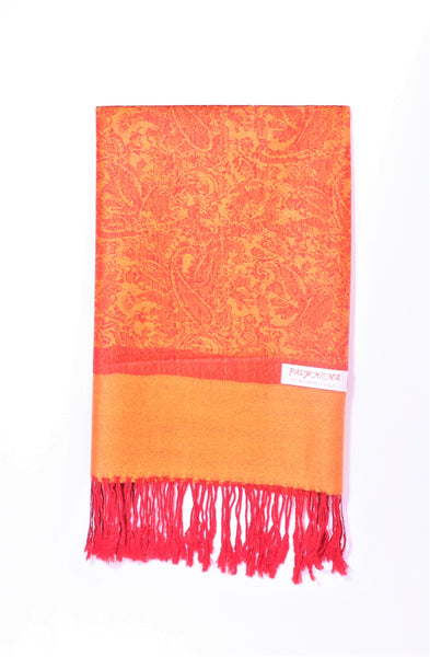 Bright Orange Pashmina