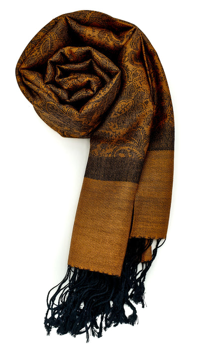 Pashmina (Orange/Black)