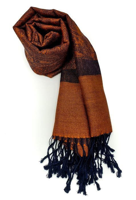 Pashmina (Orange/Navy)