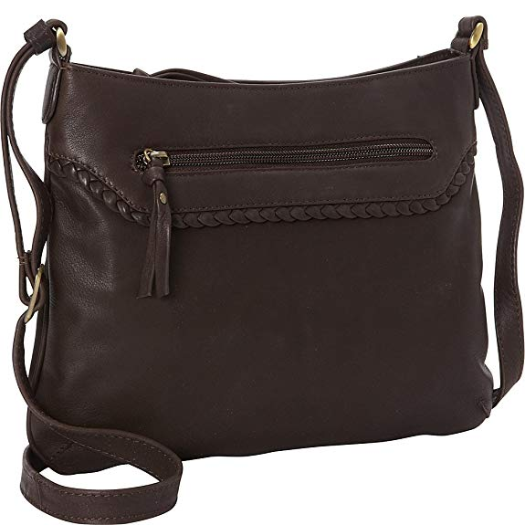 Leather Ladies' Handbag with Top Zip and Classic Slim Styling (FB-2150)