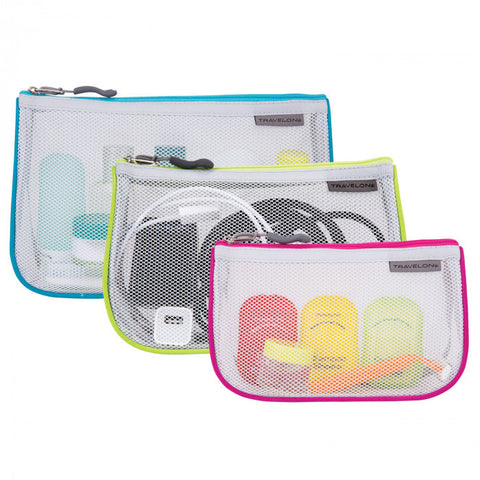Set of 3 Assorted Piped Pouches