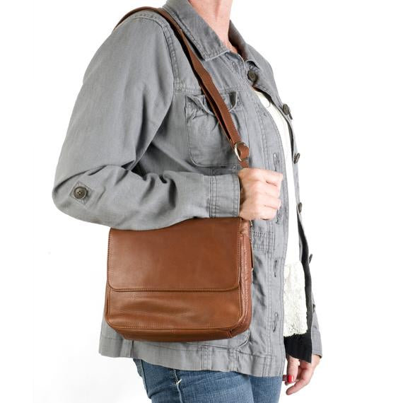 Leather Women's Crossbody Organizer (4521)