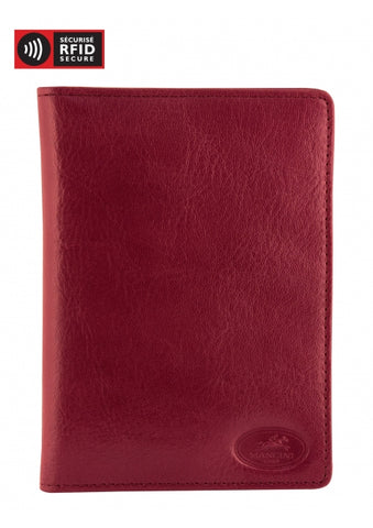 Leather Travel Wallet with Passport Pocket RFID (52171)