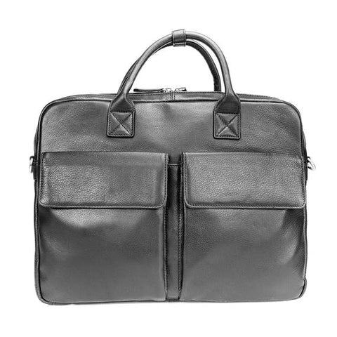 Leather Men's Briefcase Slim Shane 6046