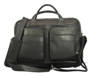 Leather Men's Briefcase with Double Pocket Daniel 6047