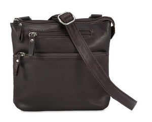 Leather Women's Crossbody Small Traveler Bag RFID (7002)