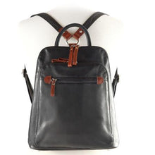 Load image into Gallery viewer, Leather Women's Organizer Backpack (7107)