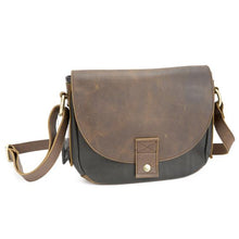 Load image into Gallery viewer, Leather Women's Crossbody Flap Bag (7121)