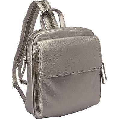 Leather Ladies' Backpack Top Zip Sling (CP-8781)