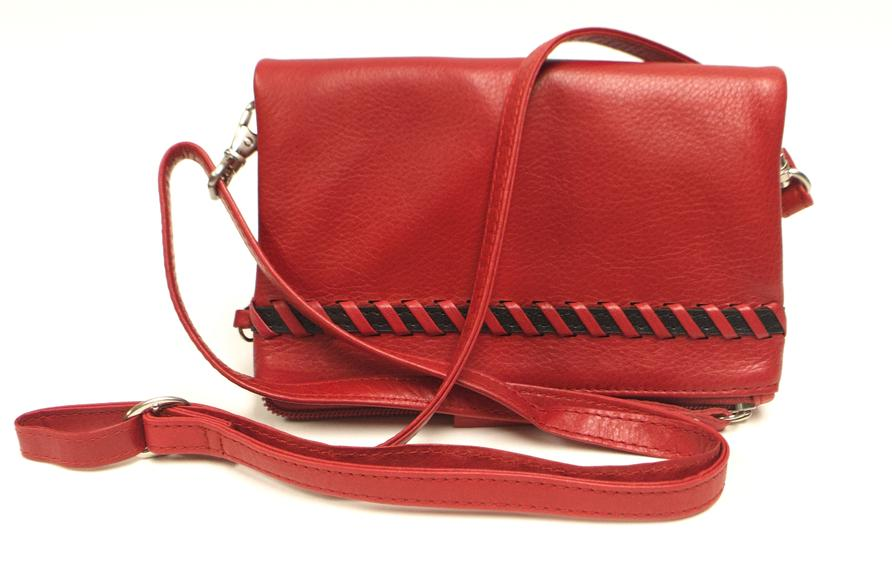 Leather Women's Bag Fold Over Front (7212)