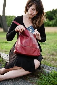 Leather Women's Hobo Bag Large RFID (7215)