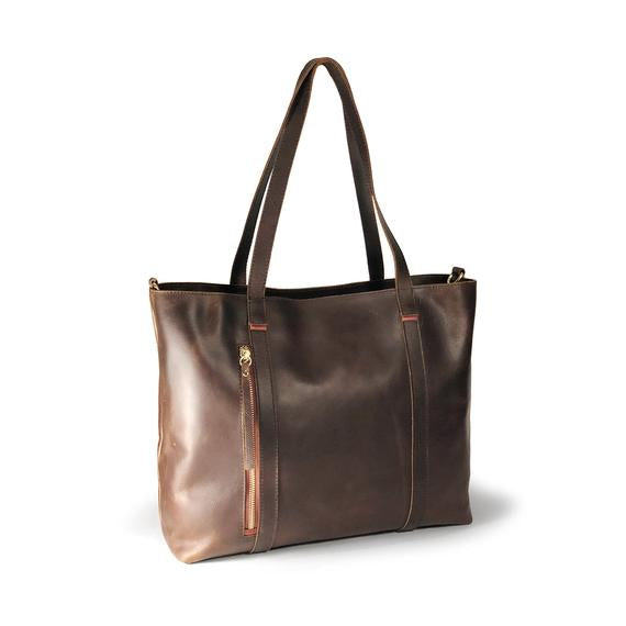 Leather Women's Distressed Payton Tote (7243)