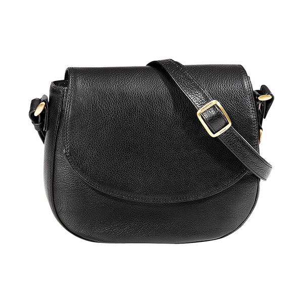 Leather Handbag Small Half Flap Saddle BR-8081 (Available in other colours)