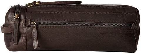Leather Toiletry Case Twin Top Zip (PB-1700)