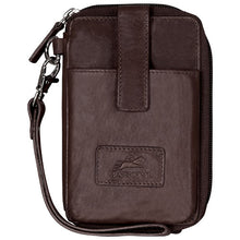 Load image into Gallery viewer, Leather Ladies' Wristlet  with Cell Phone Pocket RFID 8700044