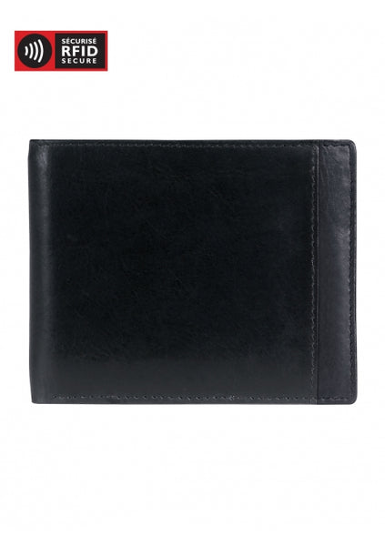 Leather Men's Wallet with Removable Passcase RFID (8700851)