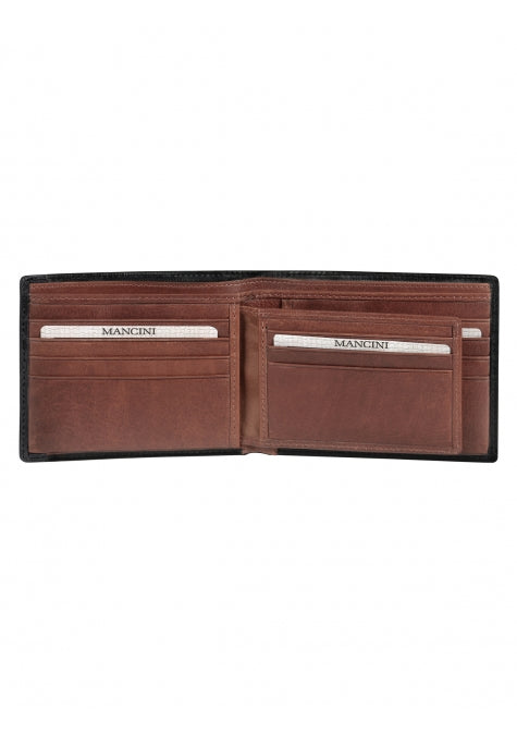 Leather Men's Wallet with Removable Passcase RFID (8700852)