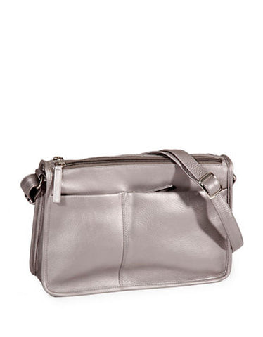 Leather Handbag East/West Twin Top Zip CP-8843 (Available in another colour)