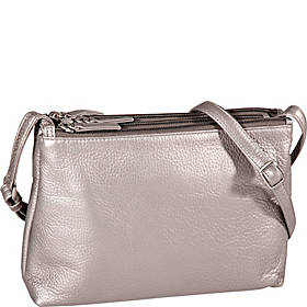 Leather Ladies' Handbag East/West 3 Top Zip (CP-8847)