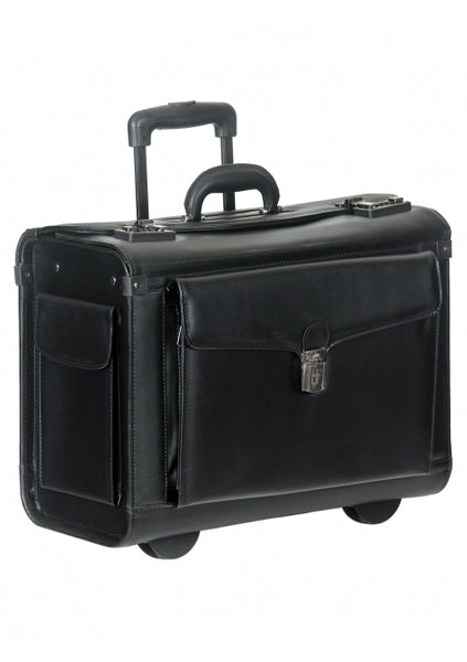 Simulated Leather Briefcase High Capacity Wheeled (90458)