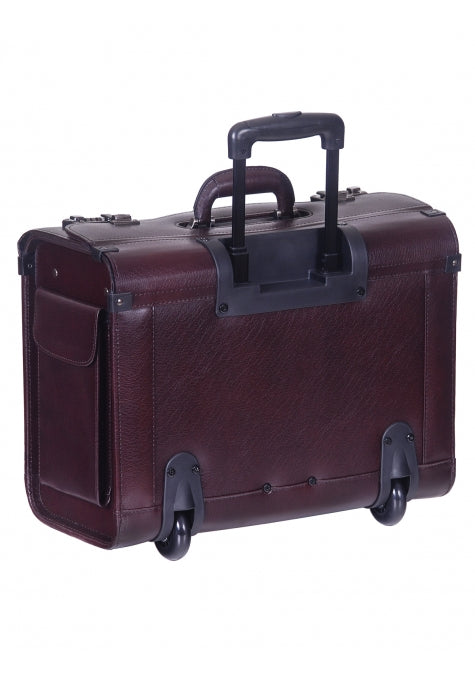 Mancini Leather Briefcase High Capacity Wheeled (90459)