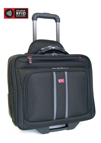 Compuroller-Double Compartment Wheeled Briefcase (92002)