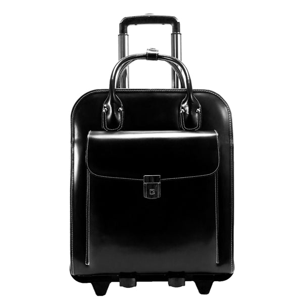 "McKlein W Series La Grange 15"" Leather Vertical Patented Detachable -Rolling Ladies' Laptop Briefcase"