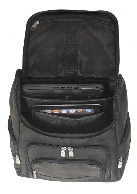 Leather Backpack for Laptop and Tablet RFID (98231)