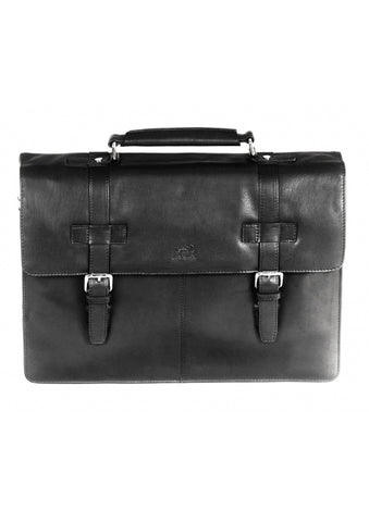 Leather Briefcase for Laptop and Tablet RFID (98234)