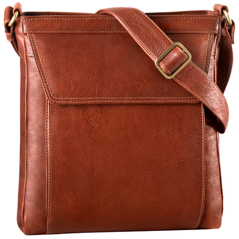 Leather Ladies' Handbag Cross Body Tablet Friendly (BR-8001)