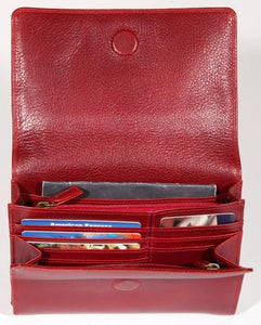 Leather Ladies' Handbag with organizer/wallet (BR-8005)