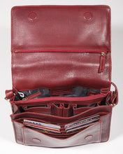 Load image into Gallery viewer, Leather Ladies' Handbag with Half Flap/Organizer (BR-8006)
