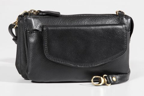 Leather Ladies' Handbag Deluxe Top Zip Mini Bag/Clutch (BR-8014)
