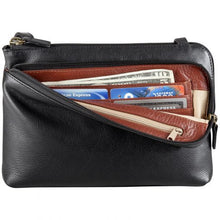 Load image into Gallery viewer, Leather Ladies' Handbag Two top zip with front organizer (BR-8015)