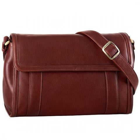 Leather Ladies' Handbag 1/4 flap 3 compartment (BR-8019)