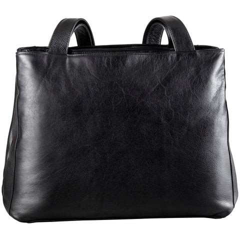 Leather Ladies' Handbag 2 Top Zip Shopper (BR-8022)