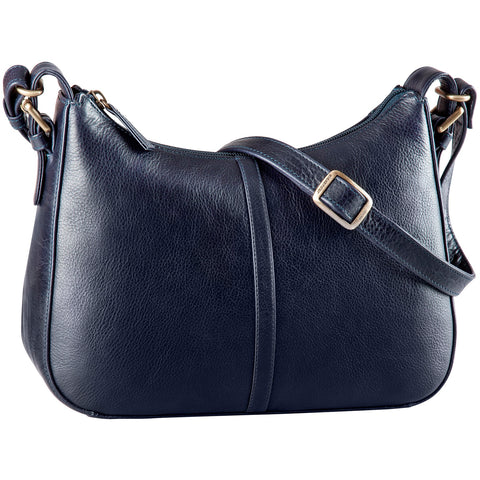 Leather Handbag Full Top Zip (BR-8073)