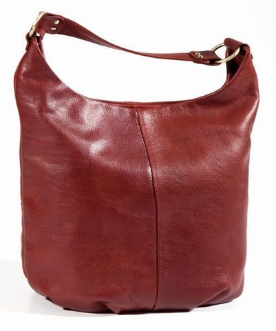 Leather Ladies' Handbag Large Fixed Strap Hobo (BR-8080)