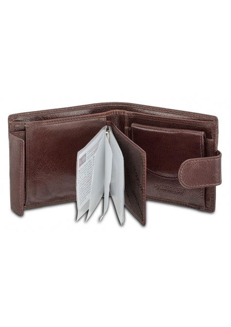 Leather Men's Wallet Deluxe with Coin Pocket RFID (52155)