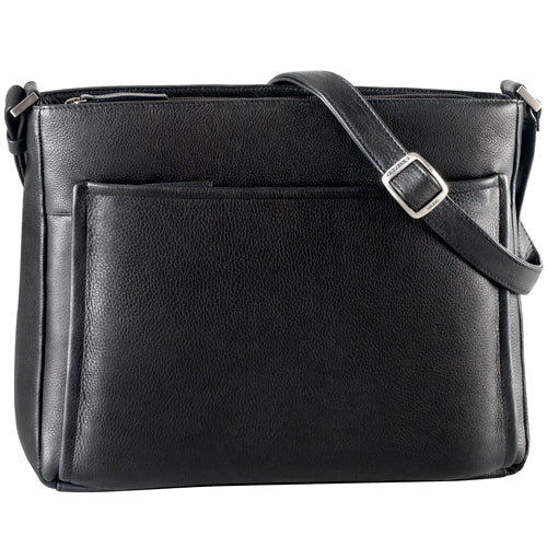 Leather Ladies' Handbag Large Full Zip Tablet Friendly (CP-8825)