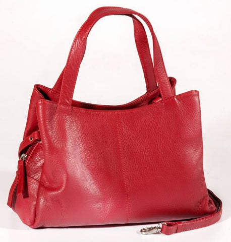 Leather Ladies' Handbag Double Handle (CP-8839)